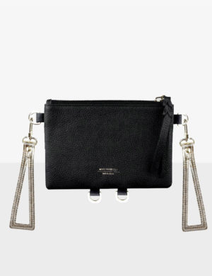 BABY CLUTCH SET black gold triangles