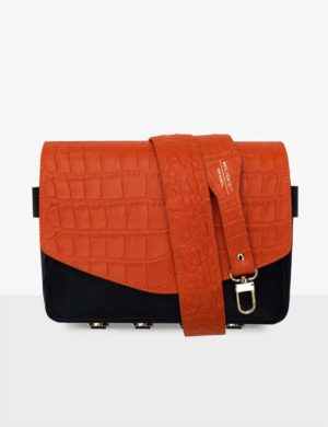 set cube orange croco black