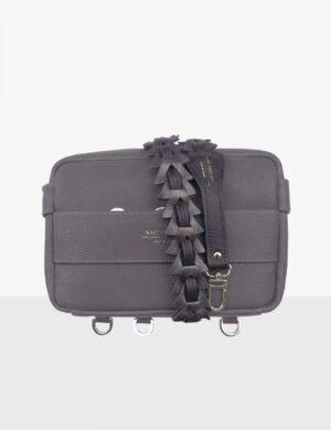 CUBE SET graphite torebka modułowa z długim paskiem z trójkatami make yourself-min