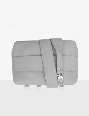 CUBE SET gray mist z waskim paskiem torebki modułowe make yourself