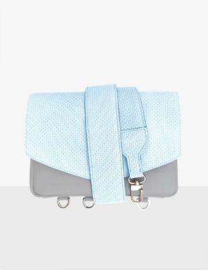 Torebka CUBE gray SET ice blue
