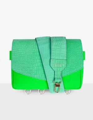 CUBE_SET_neo_green_croco_urban_jungle_torebka_modułowa_make_yourself