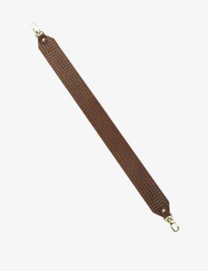 PASEK KRÓTKI brown braid