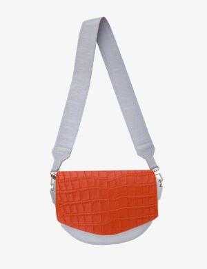 croco-orange-luna-set-gray-skórzana-torebka-make-yourself-na-pasku