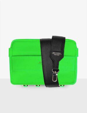 set_neo-green-cube-set-z-czarnym-paskiem_skórzana_torebka_modułowa_make_yourself