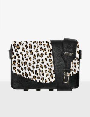 CUBE SET black STRUCTURE leopard klapa i pasek czarny