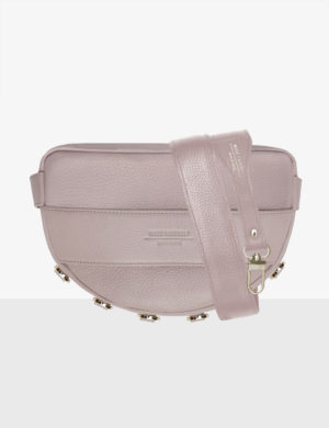 LUNA SET pink quartz DŁUGI PASEK slim