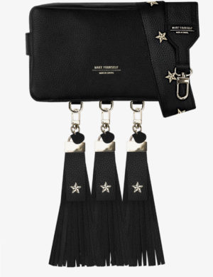 LONG CUBE SET black FRINGE stars