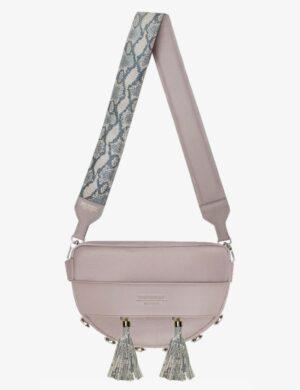 LUNA SET pink quartz STRUCTURE pink snake 2 frędzle simple make yourself