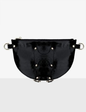 HALF MOON CLUTCH glossy black torebka make yourself