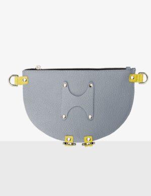 HALF MOON CLUTCH gray sunny torebka
