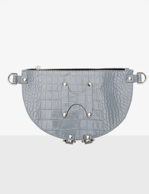 HALF MOON CLUTCH misty croco torebka make yourself