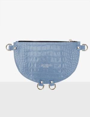 HALF MOON CLUTCH sky blue torebka