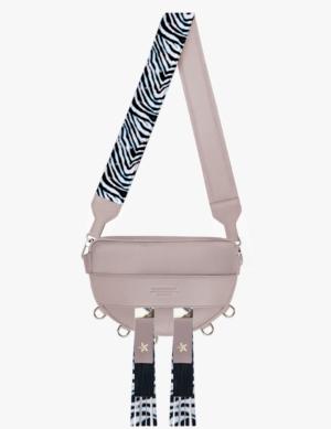 LUNA SET pink quartz DŁUGI PASEK zebra stars