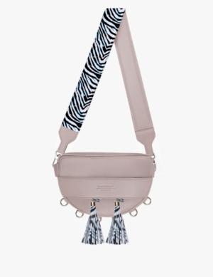 LUNA SET pink quartz DŁUGI PASEK zebra simple