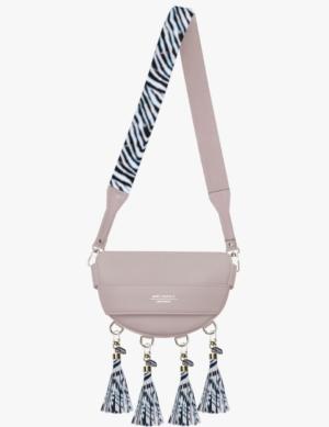 BABY LUNA SET pink quartz DŁUGI PASEK slim zebra simple