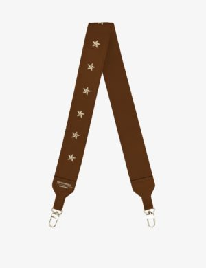 długi pasek caramel stars do torebki skórzanej make yourself bag