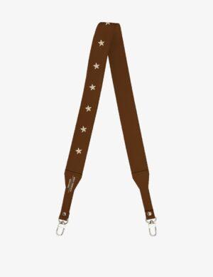 długi pasek slim caramel stars do torebki skórzanej make yourself bag