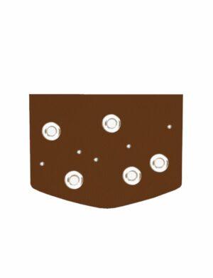 klapa circle caramel do torebki z klapą make yourself