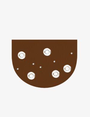 klapa moon circle caramel do torebki z klapą make yourself