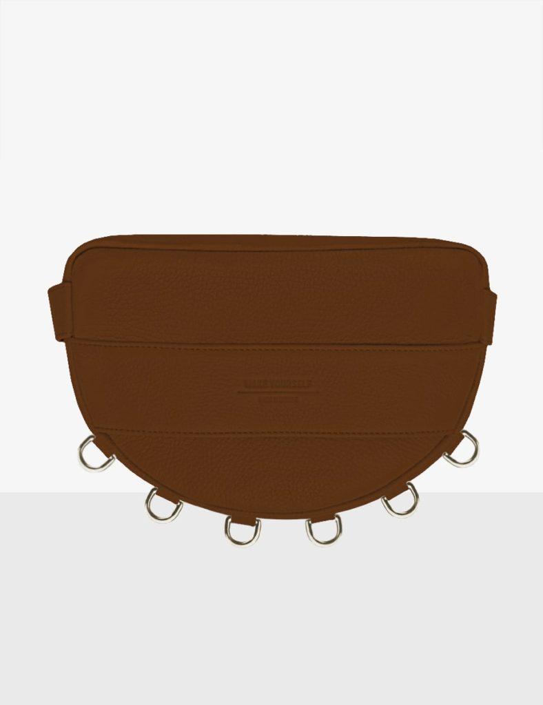 luna caramel torebka półksiężyc skórzany make yourself bag