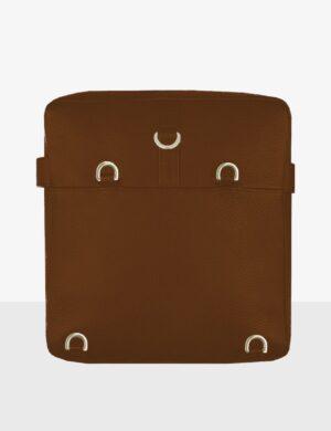 maxi cube caramel torebka skórzana make yourself bag